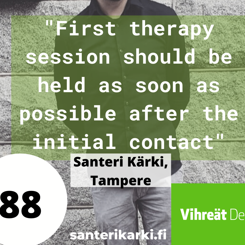 Therapy, Tampere, Local elections, Municipal elections 2021 Tampere, the greens
